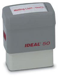 "Ideal Self-inking Stamp 5/8"" x 1 5/8"""